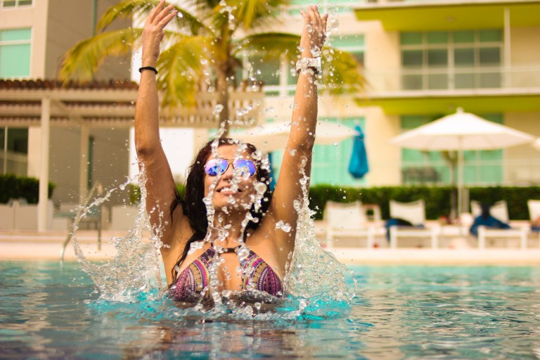 Pool Party - women in bikinis