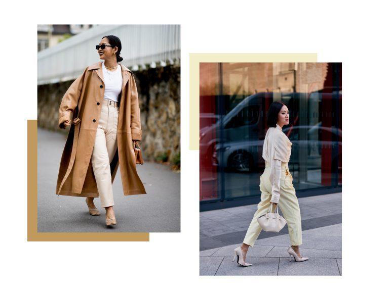 Ragazze vestite di beige