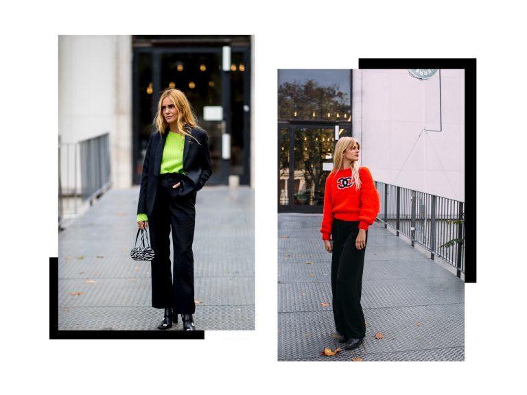 Ragazze che indossano colori al neon e nero