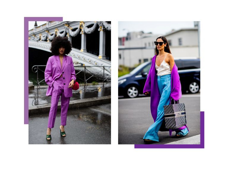 Ragazze vestite di viola