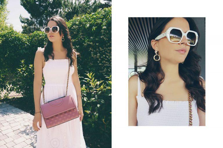 LUISAVIAROMA bags tory burch, sunglasse stella mccartney and rosantica earrings