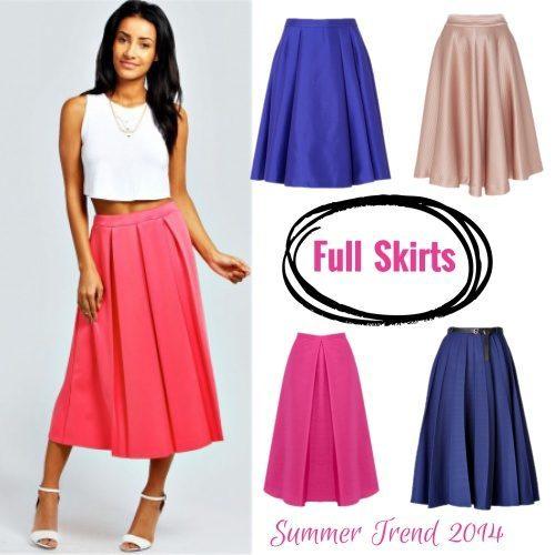 The Full Midi Skirt | Fashiola.co.uk