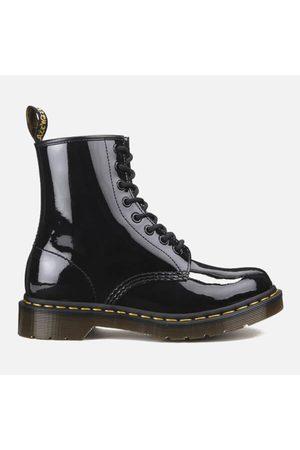 Women Boots - Dr. Martens Women's Core 1460 W 8-Eye Patent Lamper Boots