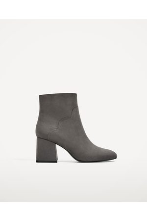 Women Ankle Boots - Zara HIGH HEEL ANKLE BOOTS WITH WAVY DETAIL - Available in more colours