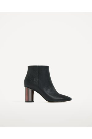 Women Ankle Boots - Zara LEATHER ANKLE BOOTS WITH METAL HEEL - Available in more colours