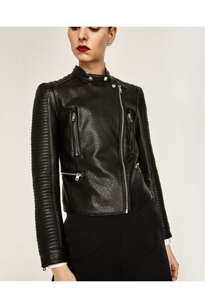 buy zara leather jackets for women online fashiolacouk