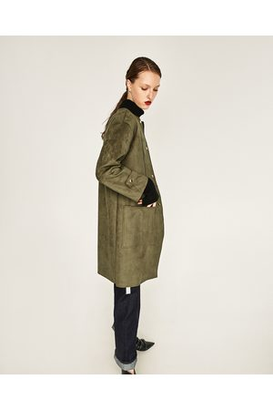 Women Coats - Zara FAUX SUEDE COAT - Available in more colours