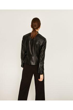 Women Leather Jackets - Zara FAUX LEATHER JACKET