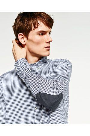 Men Shirts - Zara GINGHAM CHECK SHIRT