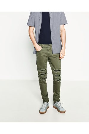 Men Trousers & Jeans - Zara RIPPED SKINNY JEANS - Available in more colours