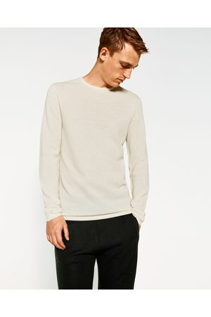 Men Jumpers & Sweaters - Zara TEXTURED WEAVE SWEATER - Available in more colours