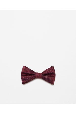 Men Bow Ties - Zara MICRO-PATTERN BOW TIE