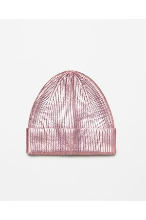 Women Hats - Zara METALLIC KNIT HAT - Available in more colours