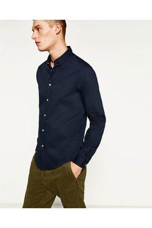 Men Shirts - Zara TEXTURED WEAVE SHIRT