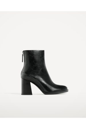Women Ankle Boots - Zara CONTRAST HIGH HEEL ANKLE BOOTS