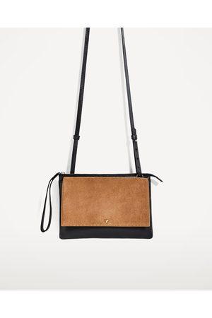 Women Shoulder Bags - Zara CLASSIC LEATHER CROSSBODY BAG