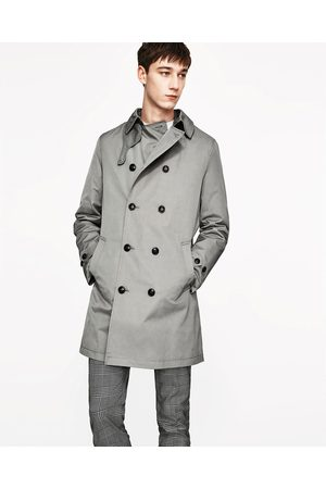 Men Trench Coats - Zara CLASSIC TRENCH COAT - Available in more colours