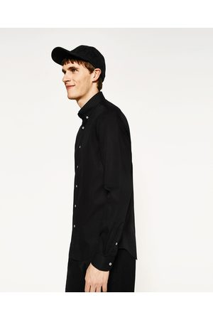 Men Shirts - Zara SHIRT WITH CONTRAST BAND - Available in more colours