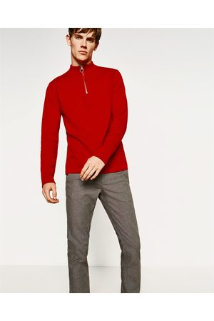 Men Trousers - Zara TEXTURED WEAVE TROUSERS - Available in more colours