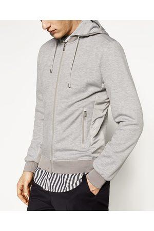 Men Jackets - Zara CONTRAST SPORTS JACKET