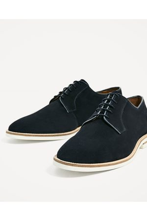 Men Casual Shoes - Zara SPLIT SUEDE CASUAL LEATHER SHOES