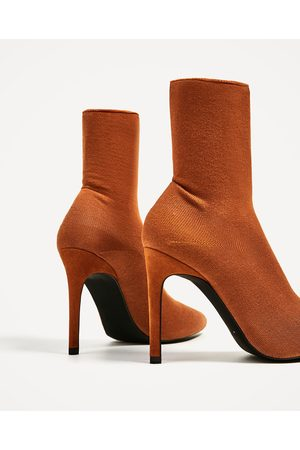 Women Ankle Boots - Zara HIGH HEEL SOCK STYLE ANKLE BOOTS