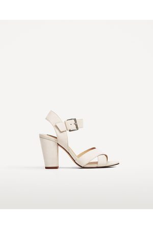 12e203bde7c Women Sandals - Zara CROSSOVER FAUX SUEDE SANDALS