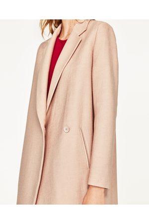 Zara mantel roze
