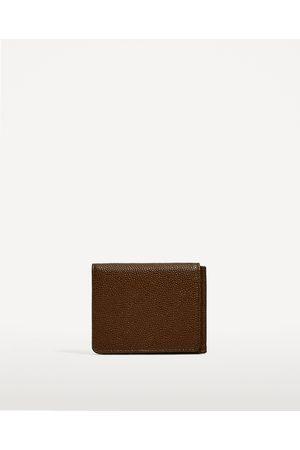 Men Purses & Wallets - Zara CLASSIC BROWN WALLET