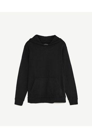 Men Sweatshirts - Zara BASIC HOODED SWEATSHIRT - Available in more colours