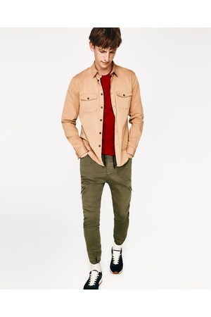Men Cargo Trousers - Zara SOFT CARGO TROUSERS - Available in more colours