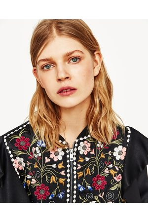 Women Blazers - Zara EMBROIDERED BLAZER
