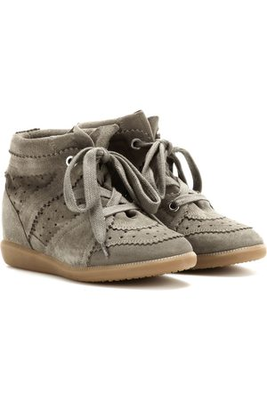 Isabel Marant Women Trainers - Bobby suede wedge sneakers