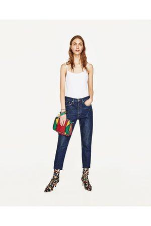 Women Shoulder Bags - Zara MULTICOLOURED EMBOSSED LEATHER CROSSBODY BAG