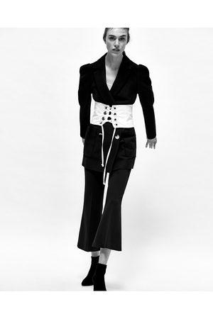 Women Corsets - Zara CORSET WITH METALLIC RINGS