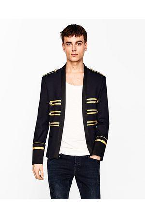 Men Jackets - Zara JACKET WITH GOLDEN BANDS
