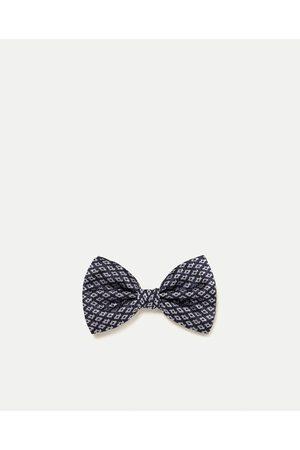Men Bow Ties - Zara DIAMOND PATTERN BOW TIE