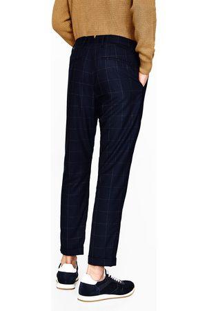 Men Trousers - Zara WINDOW PANE CHECK TROUSERS