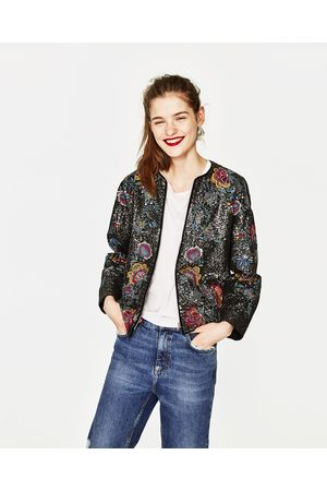 Women Jackets - Zara EMBROIDERED AND SEQUINNED JACKET