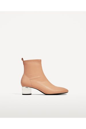 Women Ankle Boots - Zara ANKLE BOOTS WITH METHACRYLATE HEEL
