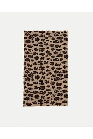 Women Scarves - Zara ANIMAL PRINT SCARF