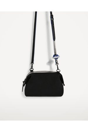 Women Shoulder Bags - Zara CROSSBODY BAG WITH STRAP DETAIL