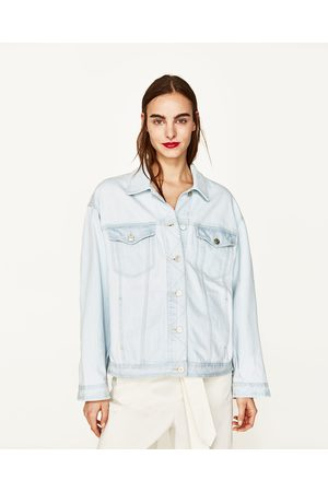 Women Denim Jackets - Zara DENIM JACKET WITH FRUIT EMBROIDERY