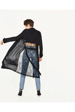 Women Jackets - Zara MIXED DRAPED JACKET