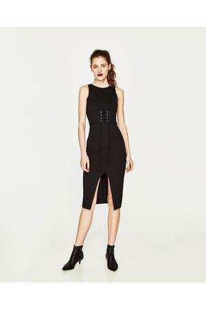 Women Midi Dresses - Zara FITTED MIDI DRESS