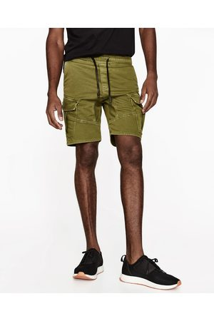 Men Bermudas - Zara CARGO BERMUDAS - Available in more colours