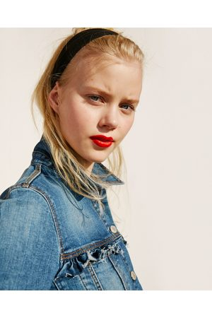 Women Denim Jackets - Zara FRILLED DENIM JACKET