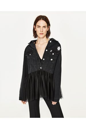 Women Jackets - Zara JACKET WITH TULLE