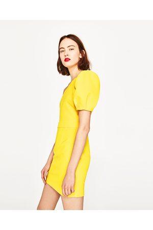 Women Asymmetrical Dresses - Zara DRESS WITH ASYMMETRIC SLEEVES