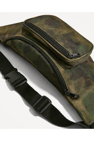 Men Bags - Zara CAMOUFLAGE FABRIC BELT BAG